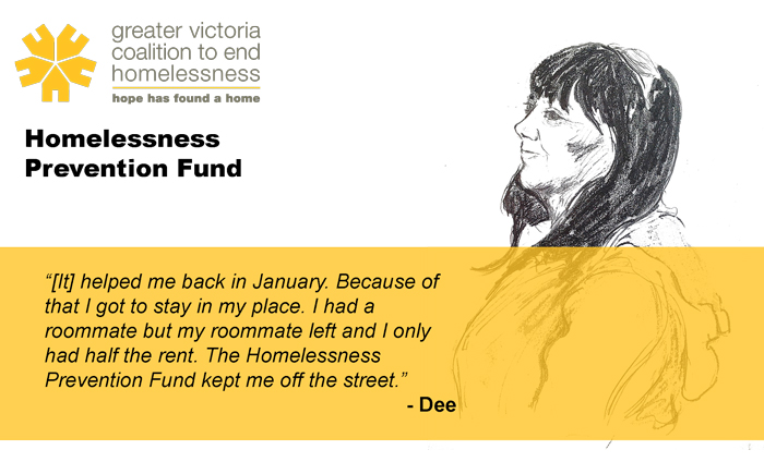 Quote taken from the 2013/14 Report on Housing  & Supports. Visit victoriahomelessness.ca for more information.